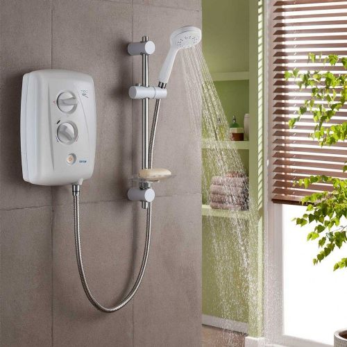 Triton T80Z Fast-Fit 8.5Kw Electric Shower - White & Chrome